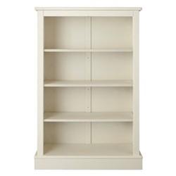 Milne Bookcase, H135 x W89 x D30cm, antique white
