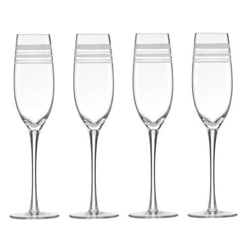 Library Stripe Set of 4 Champagne flutes