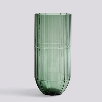Colour Extra large glass vase, H27.5 x W13cm, green
