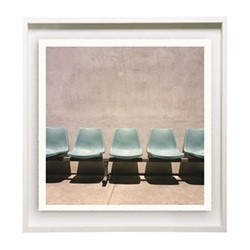Hollywood by Sinziana Velicescu Framed fine art photographic print, 57 x 57 x 3.3cm, white frame
