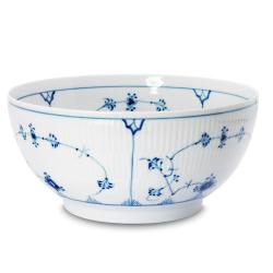 Blue Fluted Plain Round salad bowl, 24cm