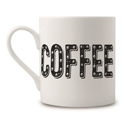 Coffee Mug, H9 x Dia 8cm, black/white