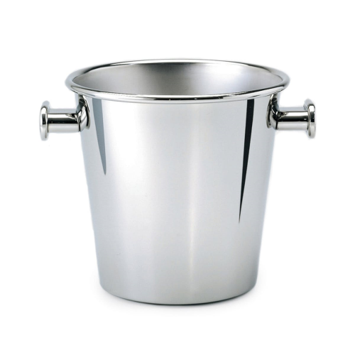 Ettore Sottsass Wine and Champagne cooler, H23 x D20cm - 0.7 litre, Stainless Steel