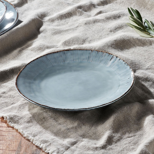 Malia Dinner Plate, One Size, Dusty Blue