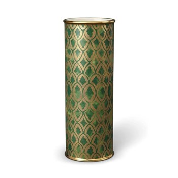Fortuny Peruviano Vase, 11 x 30cm, gold/ green