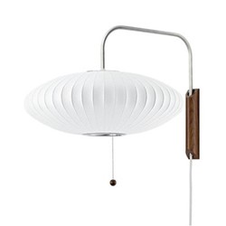 Saucer Wall sconce, W59.2 x H42.5cm, white