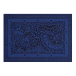 Porcelaine Set of 4 placemats, 50 x 36cm, china blue