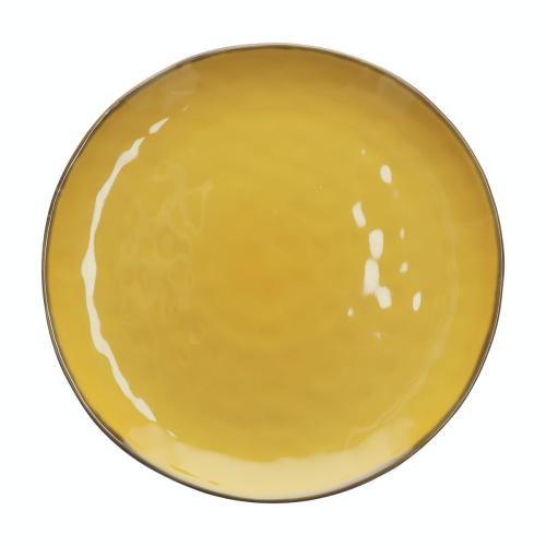 Concerto Pair of round platters, Dia32cm, Yellow
