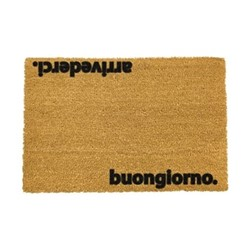 Italian Doormat - Arrivederci, black/brown