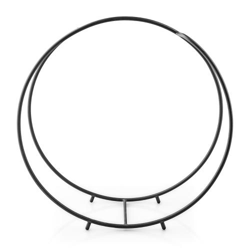 Fire Globe Log holder, 25.6x17.4x53.6, Black