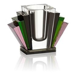 Harlem Vase, L22.5 x H17.8 x D10cm, black/rose/clear/green