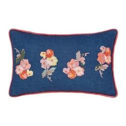 Hollyhock Meadow Cushion, L50 x W30 x H10cm, multi