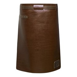 Waist Down Collection Long apron, H60 x W62cm, dark brown