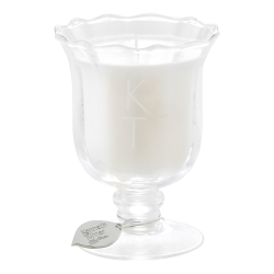 Midsummer Night Candle in posy vase, H12.5 x D9cm, Ivory