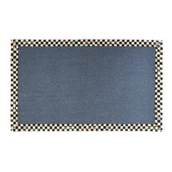 Courtly Check Rug, L152.4 x W91.44cm, black & white, blue