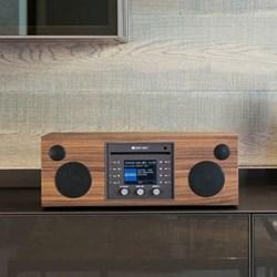 Musica Smart speaker and CD player, L40.5 x W16.6 x H14.3cm, walnut black