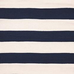 Catamaran Stripe Polypropylene indoor/outdoor rug, W91 x L152cm, navy