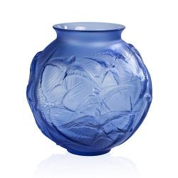 Hirondelles Vase, H215 x D215mm, Sapphire Blue