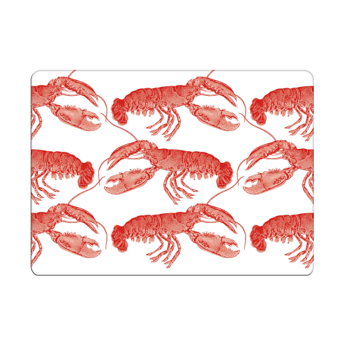 Lobster Set of 4 placemats, 28 x 21cm, Coral