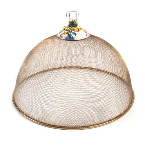 Flower Market Large mesh dome, 38cm, White