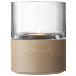Lotta Lantern, H13cm, clear with ash base
