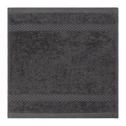 Egyptian Cotton Set of 3 face cloths, W30 x L30cm, charcoal