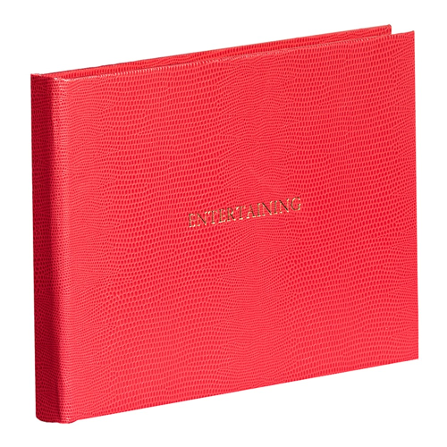 Oyster Bay Entertaining book, L16 x W21.5cm, Red Lizard Print