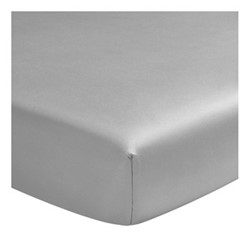 Teo Super king size fitted sheet, W180 x L200cm, silver