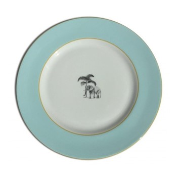 Harlequin - Blue Elephant Dinner plate, D26cm, blue