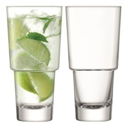 Mixologist Pair of cocktail highball glasses, 40cl