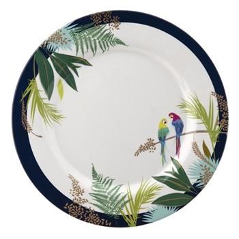Parrot Set of 4 dinner plates, 28cm