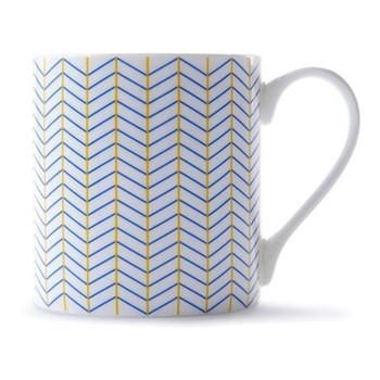 Ebb Mug, H9 x D8.5cm, yellow/blue