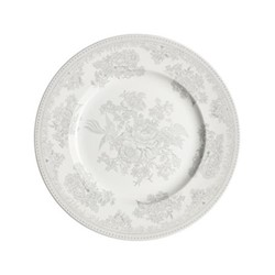 Dove Grey Asiatic Pheasants Dinner plate, 25.5cm, grey/white
