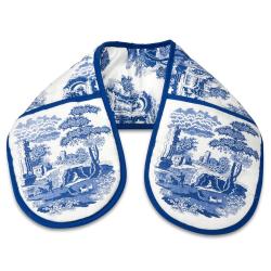 Blue Italian Pimpernel oven gloves