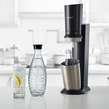 Crystal Sparkling water maker, H44 x W15.5 x D26.5cm, black
