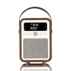 Monty DAB radio and bluetooth speaker, H19 x W13 x D10cm, walnut