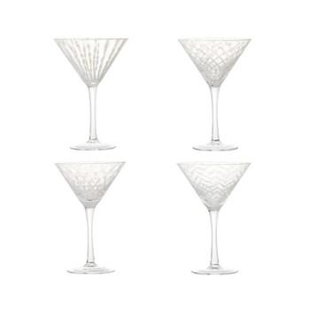 Pulcinella Set of 4 cocktail glasses, W13 x D13 x H19cm, white