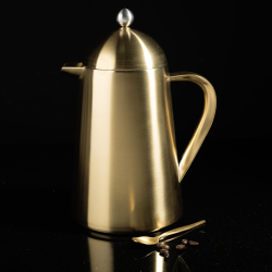 Edited 8 cup thermique, H22 x W9.5 x L16cm - 1 Litre, Brushed Gold