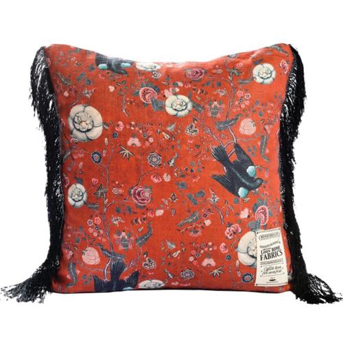 Black Bird Square cushion, L50 x W50cm, Multi