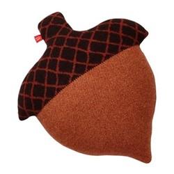 Acorn Cushion, L45 x H35cm, brown
