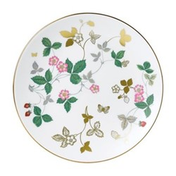 Wild Strawberry Coupe plate, 20cm, white/gold