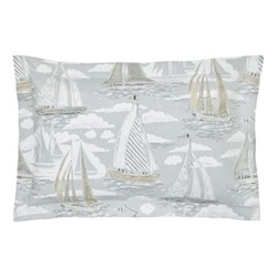 Sailor Oxford pillowcase, L48 x W74 cm, dove grey