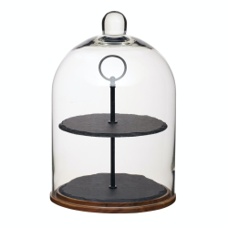 2-tier serving stand/cake dome, 22 x 31.5cm