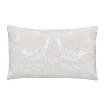 Pure Strawberry Thief Cushion, L50 x W30 x H10cm, pebble