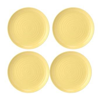 Colour Pop Set of 4 coupe plates, 27cm, sunshine