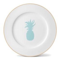 Pineapple Dinner plate, 26cm, gold rim