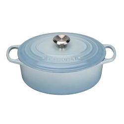Signature Cast Iron Oval casserole, 29cm - 4.7 litre, Coastal Blue