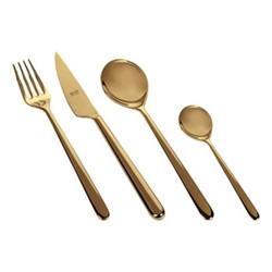 Linea 24 piece cutlery set, gold