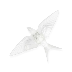 Hirondelles Wall swallow wings down, H60 x L150 x W235mm, clear