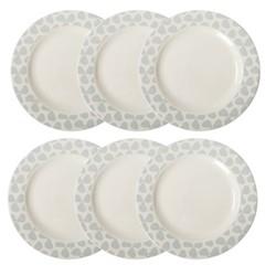 Set of 6 dinner plates W28 x H3cm